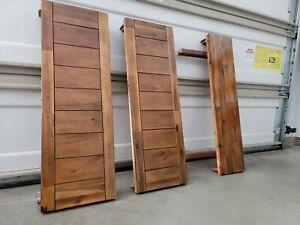 LOT 3x Mahogany Large Hard Wood Table inserts shelves scrap salvage