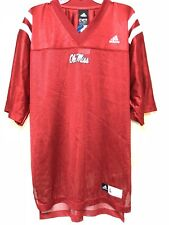 Vintage NCAA Nwt Adidas Ole Miss Jersey No Number Size L Red Football