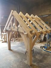 OAK PORCH, traditionally made green oak frame