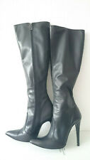 Gr. 41 Fernando Berlin Modell 300 Damen High Heels Stiefel Leder