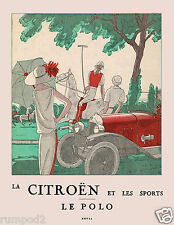 Vintage Art Deco-Vogue-Poster/Art Print - Le Polo - French/17x22  Reproduction