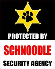 Protected By Schnoodle Security Agency Dog Sticker