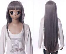 W-538 Mondaiji Asuka Kudou grau grey  98cm COSPLAY Perücke WIG Perruque Anime