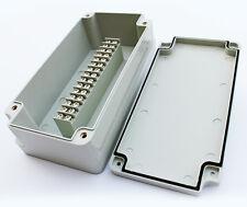 TERMINAL BLOCK ENCLOSURE, 15 POSITION, 15 AMP, IP65, 200X100X65mm, IVORY, 1022