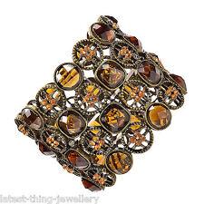 Bracciale Arancione Ambra diamante stretch POLSINO Design