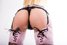 STUNNING SEXY STOCKINGS SUSPENDERS CANVAS PICTURE #181 EROTIC WALL HANGING ART
