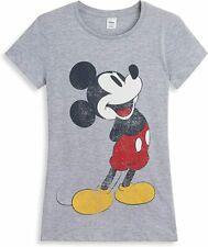 Mickey Mouse Grey Short Sleeve T Shirt for Women Teenage Girls