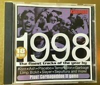 Best Of 1998 KERRANG various artists CD Album NEW Korn Slayer Sepultura garbage