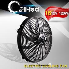 16'' Push Pull Electric Radiator Fan Truck Reversible Slim Cooling Kit 3000CFM