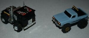 VTG Rough Riders STOMPER 4x4 PACEMAKER Cabover semi truck & DATSUN Pickup lot