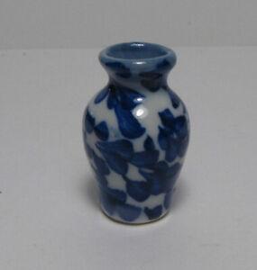 "Mini Dollhouse Ginger jar vase 1 1/4"" H. ceramic 1:12 scale Bright Delights"