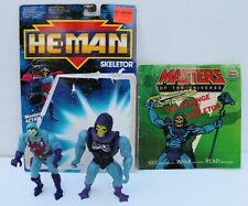 MASTERS OF THE UNIVERSE - 1983 Mattel Battle Armor Skeletor MOTU He-Man + ONE
