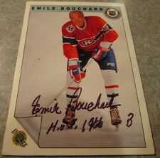Emile Bouchard Signed Autographed 1992 Ultimate #8 Montreal Canadiens Canada HOF