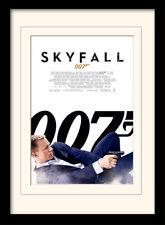 James Bond Skyfall One Sheet White Framed & Mounted Print