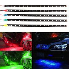 15 LED 30CM Car Grill Flexible Waterproof Light Strip SMD 12V 5 color for choice