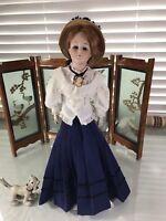"""20"""" Antique German Bisque Shoulder Head 172.5 Kestner Gibson Girl Doll!"""