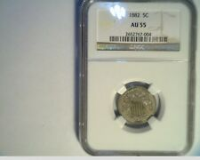 1882 US Sheild Nickel, Circulated NGC AU-55, Copper/Nickel (US-5779)