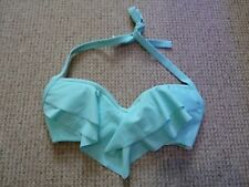 BNWOT ASOS light green frill detail halterneck ladies bikini top ~ UK Size 30DD