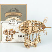 Robotime Laser Cut 3D Wooden Puzzle Airship Model Building Kits Toy for Kids Boy