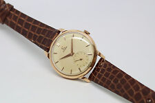 1954 OMEGA TRESOR 18ct SOLID GOLD MENS VINTAGE WATCH - 266 Cal. Manual Movement