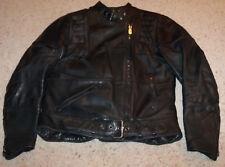 Belted Hein Gericke Harley Davidson Black Leather Padded Cafe Jacket Coat 40, M