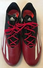 Adidas Adizero Football Cleats - Size 16 Black/Red - Lightweight Low Ankle - New