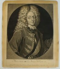 PIETER PETRUS SCHENK (1660-1718/19) FREDERICUS REX DANIAE NORVEGIAE KING KÖNIG