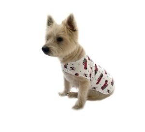 Mickey Mouse Flannel Holiday Dog Pajamas - White - L