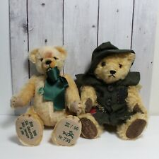 VINTAGE 2 HERMANN TEDDY BEAR LIMITED EDITION MADE IN GERMANY