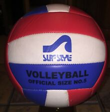 VTG SURF STYLE BEACH VOLLEYBALL Red White Blue OFFICIAL SIZE & WEIGHT NO. 5