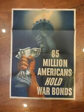 85 MILLION AMERICANS HOLD WAR BONDS 1945 20x28 poster (Original)