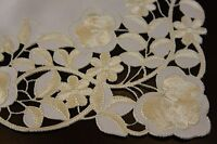 Embroidered Lace Placemat Runner Scarf White Wedding party Banquet Event Decor