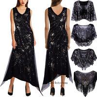 Black Long Prom Dresses 1920s Dress Flapper Costumes Evening Gown Bridal Wedding