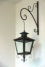 French provincial wall LANTERN and  bracket garden cottage antique brown new