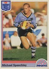 1992 NRL REGINA CRONULLA SHARKS MICHAEL SPEECHLEY #128 CARD FREE POST