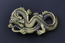 GOLD CHINESE DRAGON BELT BUCKLE METAL CALENDAR TRADITIONAL