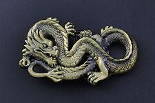 Or dragon chinois boucle de ceinture métal calendrier traditionnel