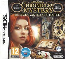 CHRONICLES OF MYSTERY DE VLOEK VAN DE OUDE TEMPEL voor Nintendo DS - compleet