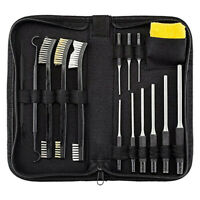 Pack of 15 Gun Cleaning Kit with Grip Roll Pin Punch Tool Set in Zippered Pouch