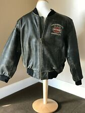Harley Davidson Authentic Distressed Leather Youth 2XL Jacket Milwaukee