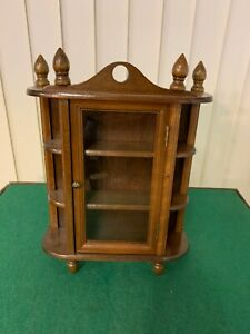 Small French Style Curio Display Cabinet Glassed Front