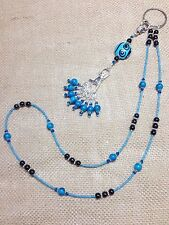 Handmade Knitting Stitch Marker Necklace Set (SNAG FREE)- Blue Swirl