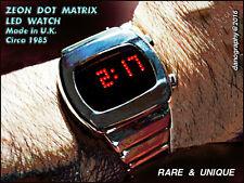 ZEON Dot Matrix LED Vintage Watch - MINT Original NEW Condition