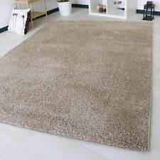 LARGE SIZE BEIGE THICK PLAIN SOFT SHAGGY NON SHED RUG MODERN CARPET RUGS 160X230