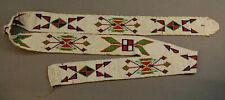 "Antique Beaded Museum Grade Native American Indian Salish Sash Band 39"" Long"