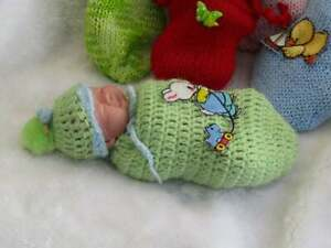 Polymer Clay hand sculpted one of a kind mini baby. With COA. Meet Oliver