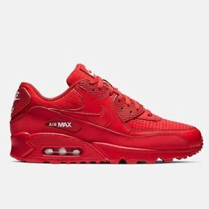Air Max 90 Herren Damen Rot Farbe Sporttrainer Klassische Sneaker Laufschuhe