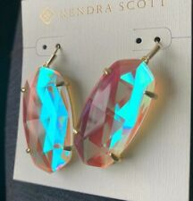 New Kendra Scott Esme Dichroic Glass Rose Gold Plated Earrings $75.00