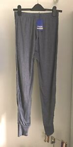 """Men's Long-Johns Thermal Trousers Size S. Greyish Blue. L24"""". New"""