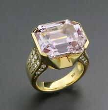 KUNZIT Brillant Ring, 20.58 ct 750-Gelbgold  Wert ca. 8.750 € NEU UNIKAT